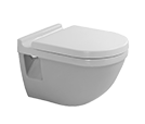 Starck toilet wall-mounted Duravit Rimless