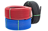 Pex Pipes in Corrugated Sleeves