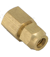 Brass Female Adaptor with Nuts