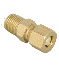 Brass Male Adaptor with Nuts